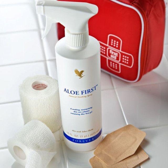ألو فيرست بخاخ الاسعافات الاولية Forever Aloe First سوق و متجر Forever Living Aloe Vera Aloe Vera Gelly Forever Living Products