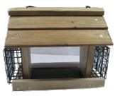 WHPS  Large Chalet with screen bottom & Suet baskets Cedar feeder with EZ fill suet baskets. All screw fasteners. Metal screen bottom. Easy to fill opening roof.  Measures 13 x 9 x 11
