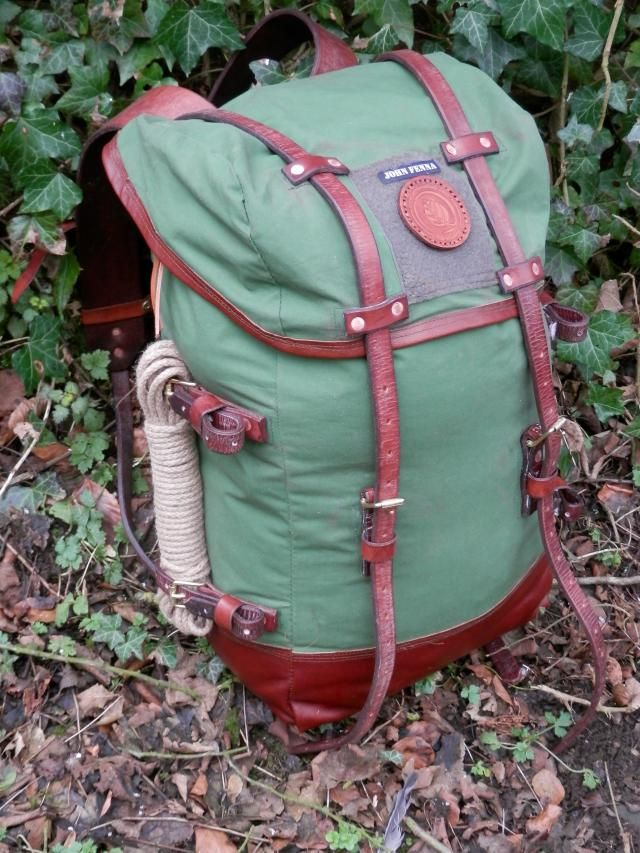 d3a67c80b1 Just finished my new canvas and leather pack