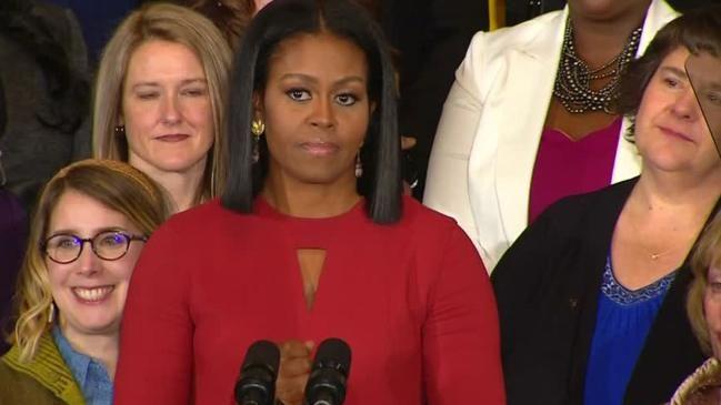 Michelle Obamas Abschiedsrede : Ihr sollt wissen, dass dieses Land euch gehört.