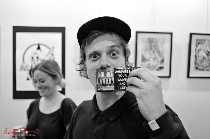 """https://flic.kr/p/PYggjZ   Well I'm glad I quit smoking!   Because I don't think I could stand seeing these new packs all the time. That said I love this impromptu shot I made with this very nice guy at m2 Gallery of him using the pack as a kind of mask! His idea, I was just ready to take the shot after I said something like """"OMG I glad I quit I don't think I could stand seeing these new packs all the time..""""   streetfashionsydney.blogspot.com.au/2017/01/art-breast-aw..."""