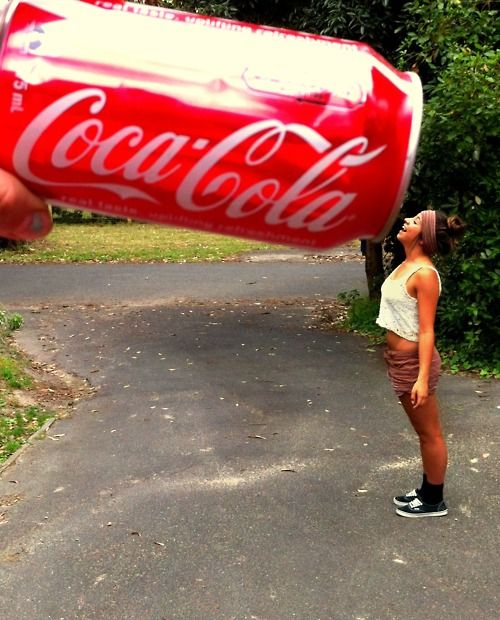 that coke can totally looks huge. ♥ I love my Co…