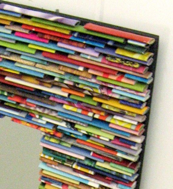 colorful mirror wall art made from recycled by colorstorydesigns