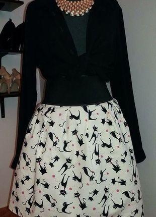Kupuj mé předměty na #vinted http://www.vinted.cz/damske-obleceni/sukne-ostatni/12453319-originalni-sukne-s-motivem-kocicek-handmade