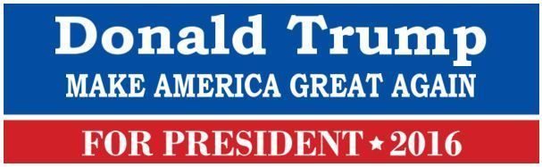 "DONALD TRUMP for President 2016  ""Make America Great Again"" #Unbranded"