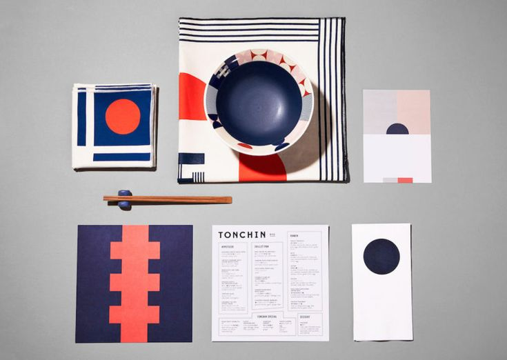 Branding for Tonchin – an acclaimed chain of ramen restaurants from Tokyo – mixes Japanese design influences with the spirit of New York. Designed by LMNOP Creative, it stands out thanks to unique geometric graphics and patterns applies onto menu's back covers, bowls and scarves worn by the staff. The visuals inspired the interior where …