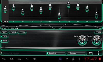 RSKMANIA: Poweramp skin Mint Glow v3.02