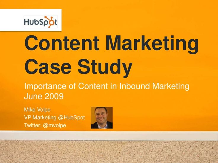 Great read for OMS! HubSpot is one of the first companies to focus on Content Marketing..Content Marketing Case Study