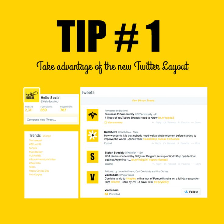 5 Tips For Making The Most Of The New Twitter Layout