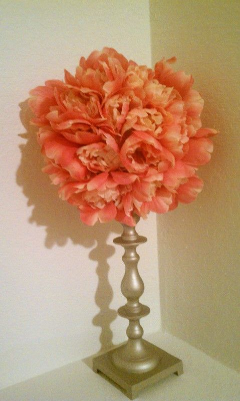 flower ball i used fake flowers from the dollar tree cut off the. Black Bedroom Furniture Sets. Home Design Ideas