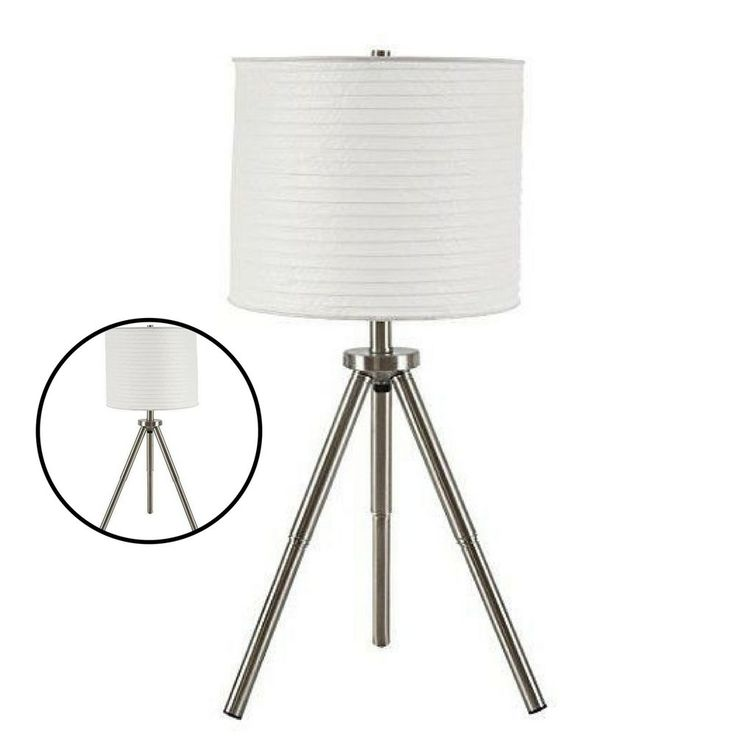 Modern Table Lamps Set of 2 Contemporary Home Decoration Light Shade Silver  #Unbranded #Contemporary