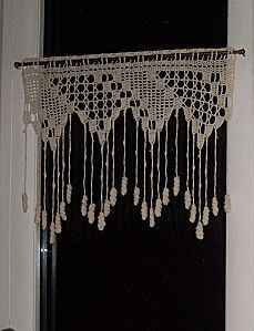 Petits rideaux. on Pinterest | Cortinas Crochet, Belle and Toile