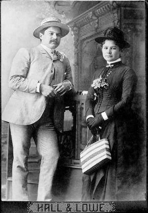 Edith Helmcken with her brother Harry