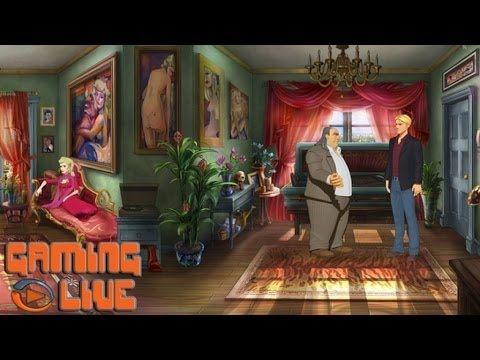Jeu d'aventure : un exemple avec Les Chevaliers de Baphomet, La Malédiction du Serpent - Episode 1, présenté ici par JeuxVideo.com. Jeu a retrouver en page 50 du livre La vie connectée - Nathan Jeunesse.