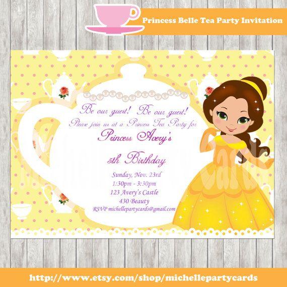 Best 25 Princess belle party ideas – Princess Tea Party Invitation
