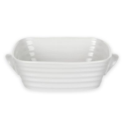 Check out this product! http://www.bedbathandbeyond.com/store/product/sophie-conran-for-portmeirion-reg-mini-rectangular-baker-in-white/1046682505