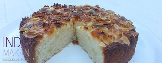 Kue Kelapa Nanas - Coconut cake with pineapple and apricot jam
