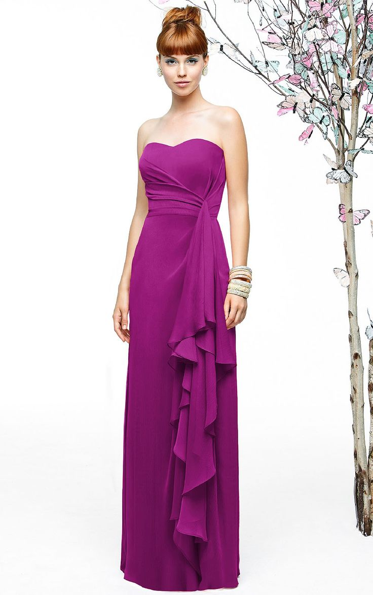 chiffon a-line/princess sleeveless asymmetrical sweetheart neckline bridesmaid dress