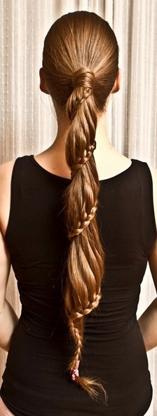 Spiral lace braid pony (Julia: I'm going to need to grow a ton of hair for this)