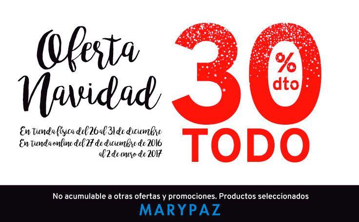 MARYPAZ amplía la Oferta de Navidad ¡TODO al 30% dto. en tiendas físicas y online!  Si quieres saberlo todo sobre la promoción visita nuestro blog aquí ►http://www.marypaz.com/blog/todo-al-30-dto-marypaz-amplia-la-oferta-de-navidad/  #SoyYoSoyMARYPAZ #Follow #winter #love #otoño #fashion #colour #tendencias #marypaz #locaporlamoda #BFF #igers #moda #zapatos #trendy #look #itgirl #invierno #AW16 #igersoftheday #girl #autumn  **Promoción válida hasta el 31 de diciembre en tiendas físicas y 02…