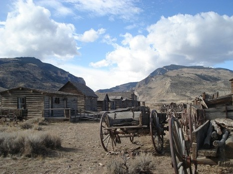 ghost town on the edge of Cody, Wyoming