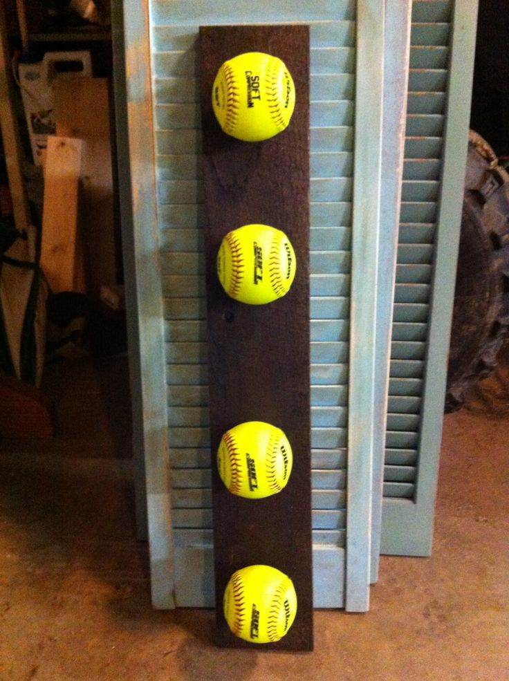 FREE SHIPPING. Unique Girls Softball medal and/or coat rack. $40.00, via Etsy.