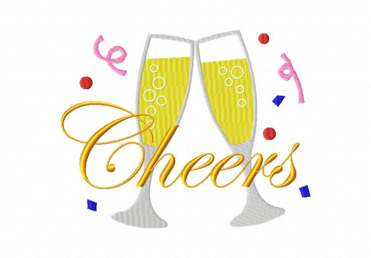 Cheers Stitched 6X10 Hoop