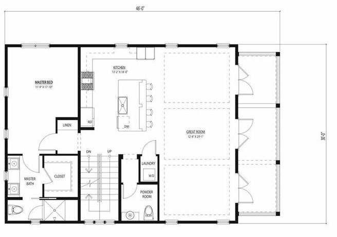 30x40 house plan start main floor you could put a