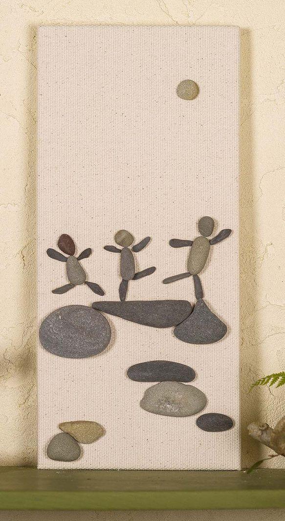 小石アート  #12 (レッツダンス)
