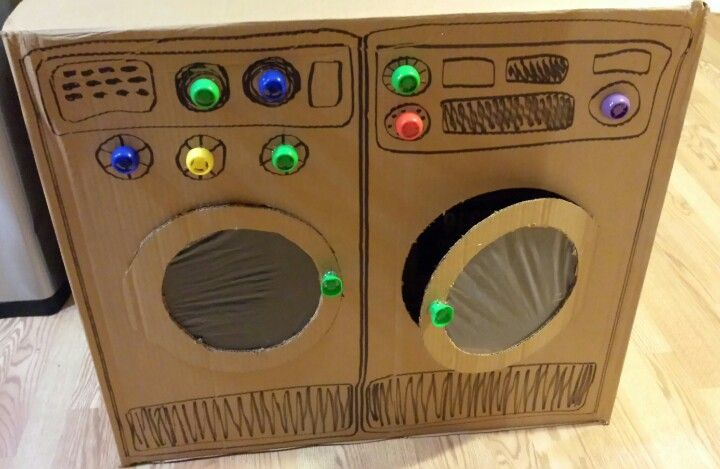 cardboard box washer dryer for mila pinterest cardboard boxes washer and dramatic play. Black Bedroom Furniture Sets. Home Design Ideas