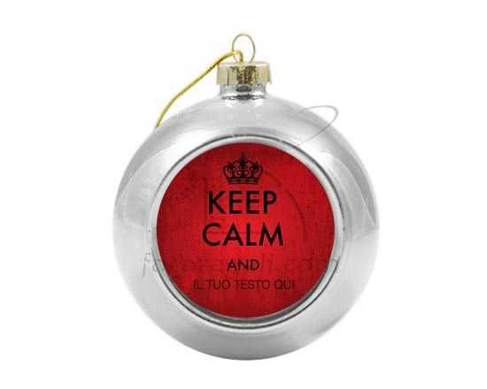 Palla di Natale vetro colorato Keep calm