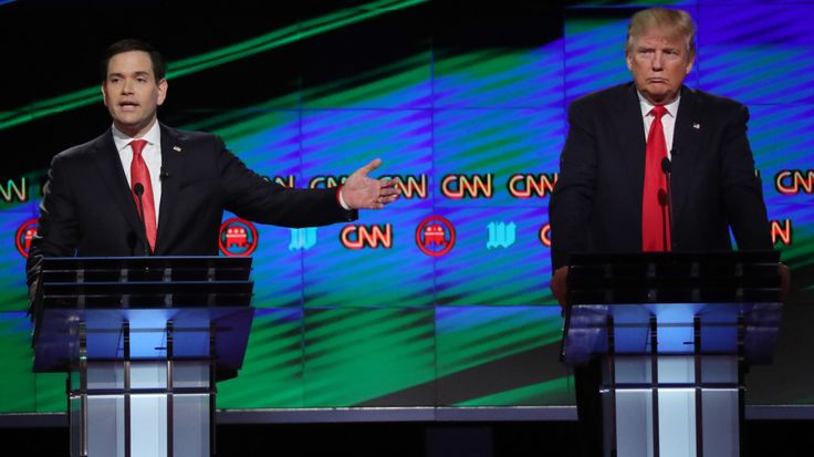 Republican Debate 2016: Donald Trump Attacked by Marco Rubio over Islam Comments  Read more: http://www.bellenews.com/2016/03/11/world/us-news/republican-debate-2016-donald-trump-attacked-marco-rubio-islam-comments/#ixzz42aW77ToT Follow us: @bellenews on Twitter   topdailynews on Facebook