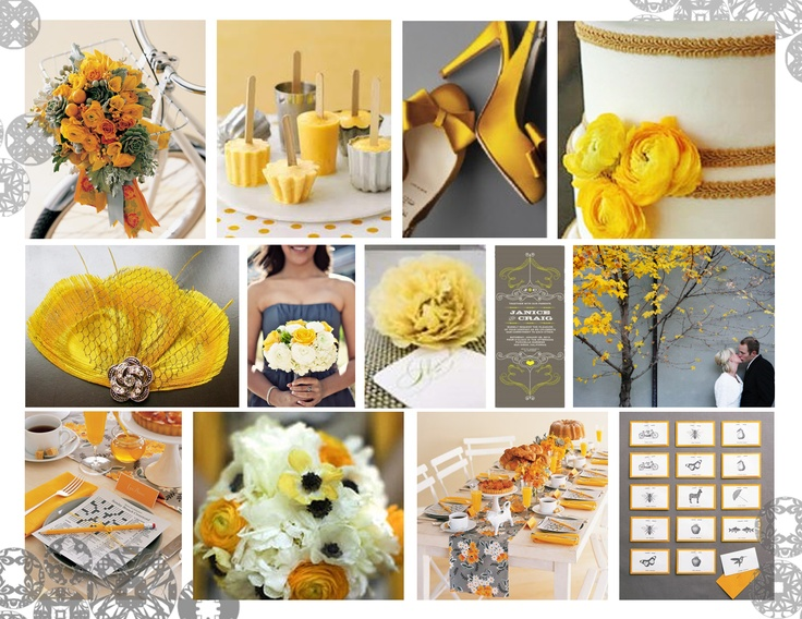 2013 Pewter and Yellow Colour Trend