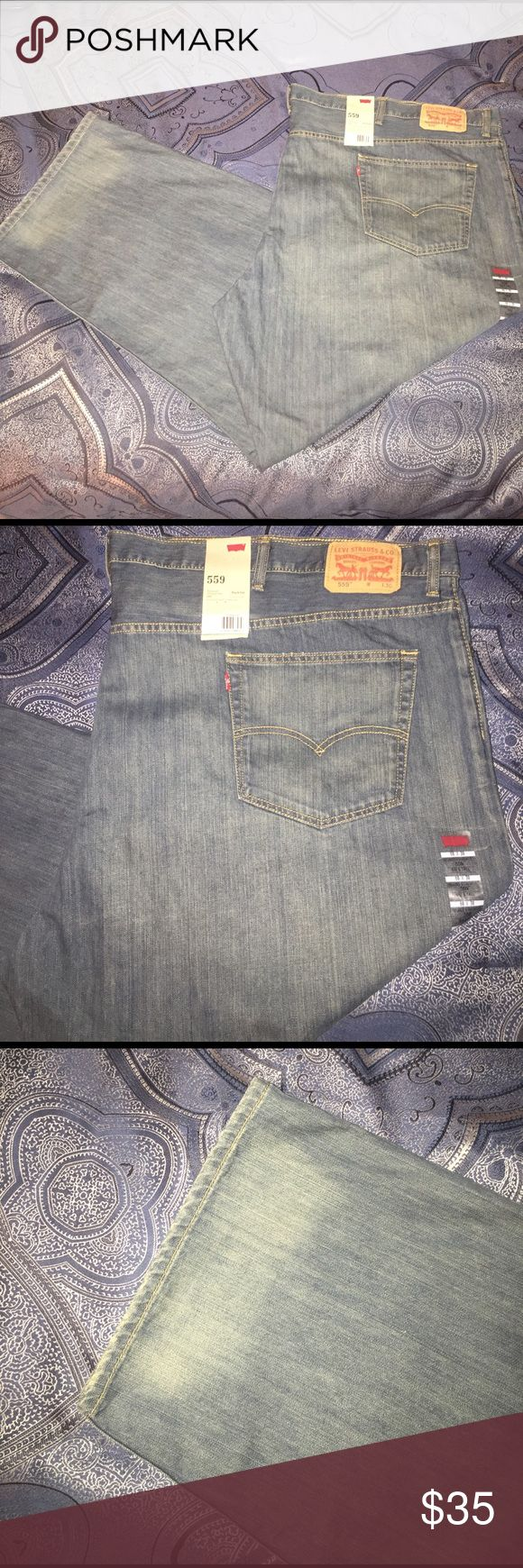 🆕BIG & Tall Levi NWT BIG & Tall Relaxed Straight Fit 559 blue denim Levi's Jeans Relaxed