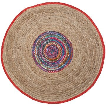 alfombra jute redonda para casaideas