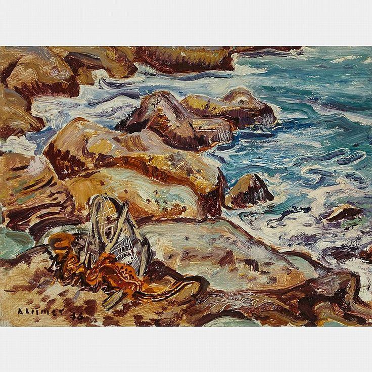 Arthur Lismer - Tide Coming In Cape Breton N.S. 12 x 16 Oil on board
