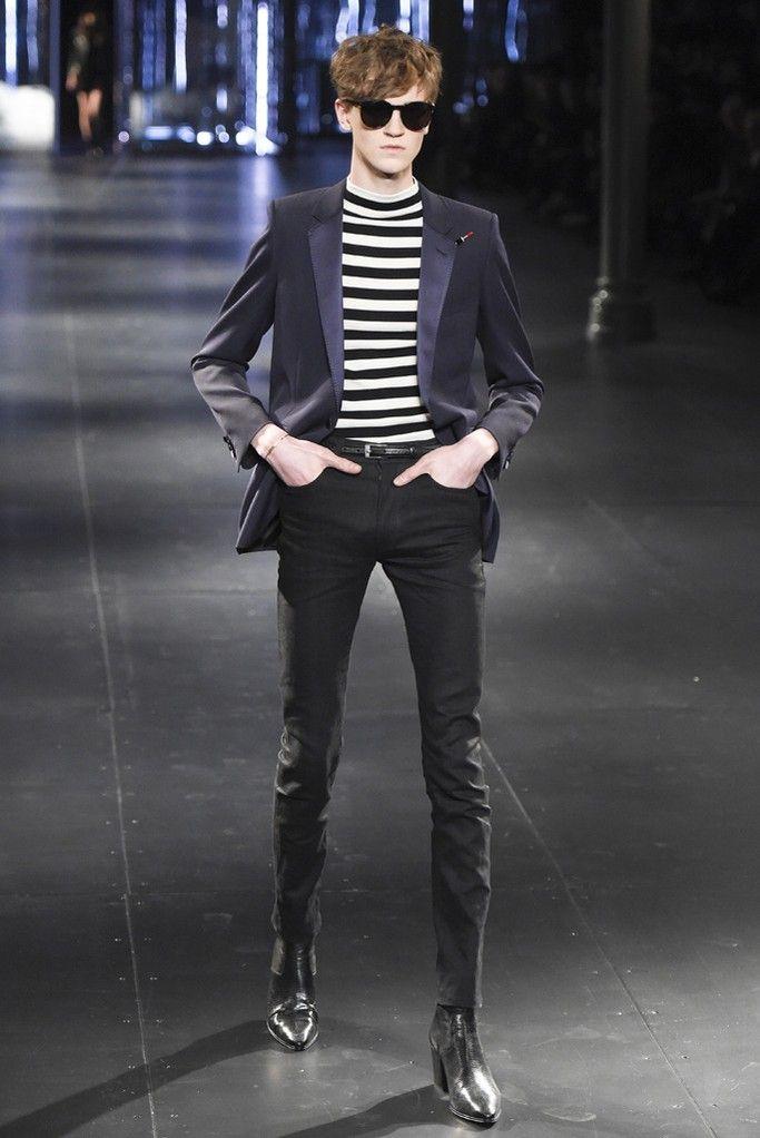 「サンローラン(SAINT LAURENT)」2015-16年秋冬メンズ・コレクションをパリで発表した。