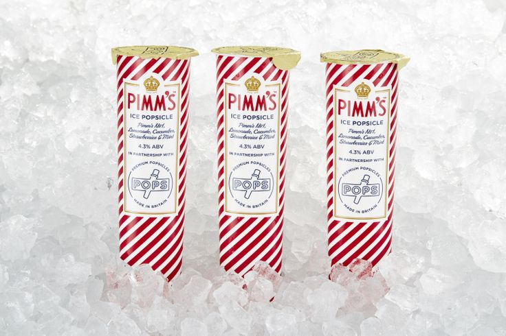 Pimm's Ice Popsicles. Released with Pops for Wimbledon 2017