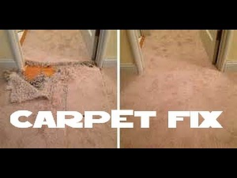 A + How to repair carpet / Fix carpet with pet damage or a small hole - YouTube