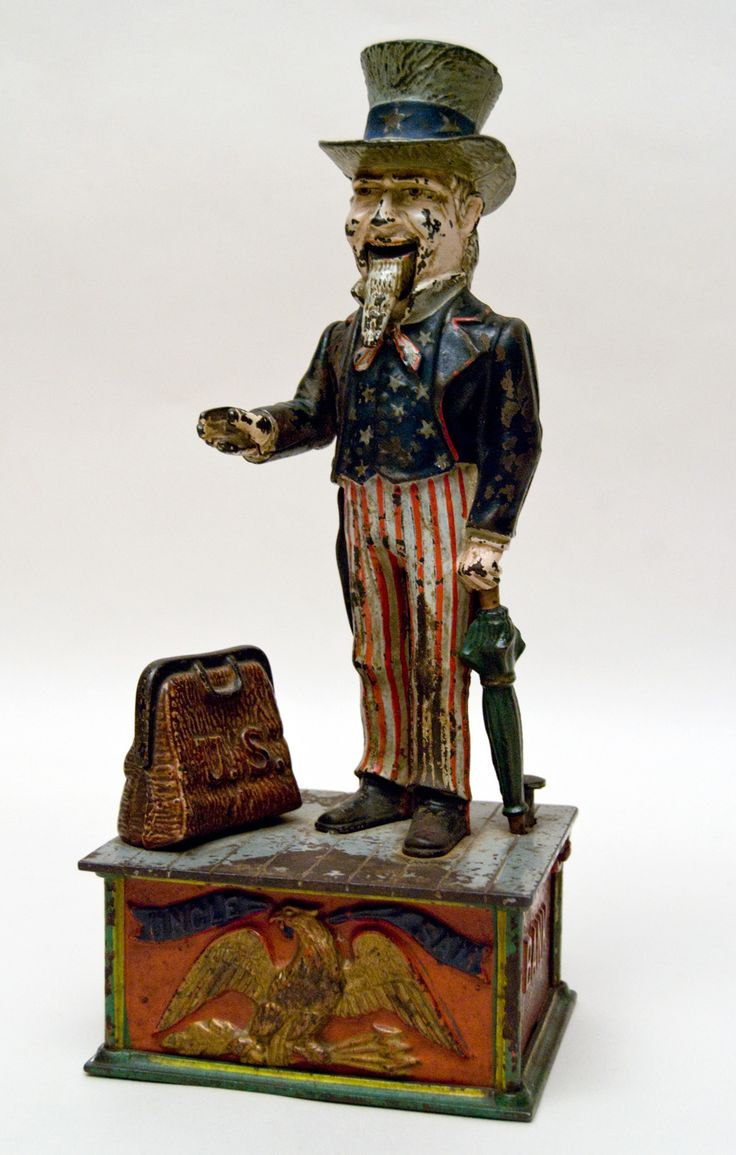 Claasic vintage toys vintage toys second shout out http www - Uncle Sam Mechanical Bank Collection Of Early American Cast Iron Mechanical Banks For Sale Find This Pin And More On Antique Toys