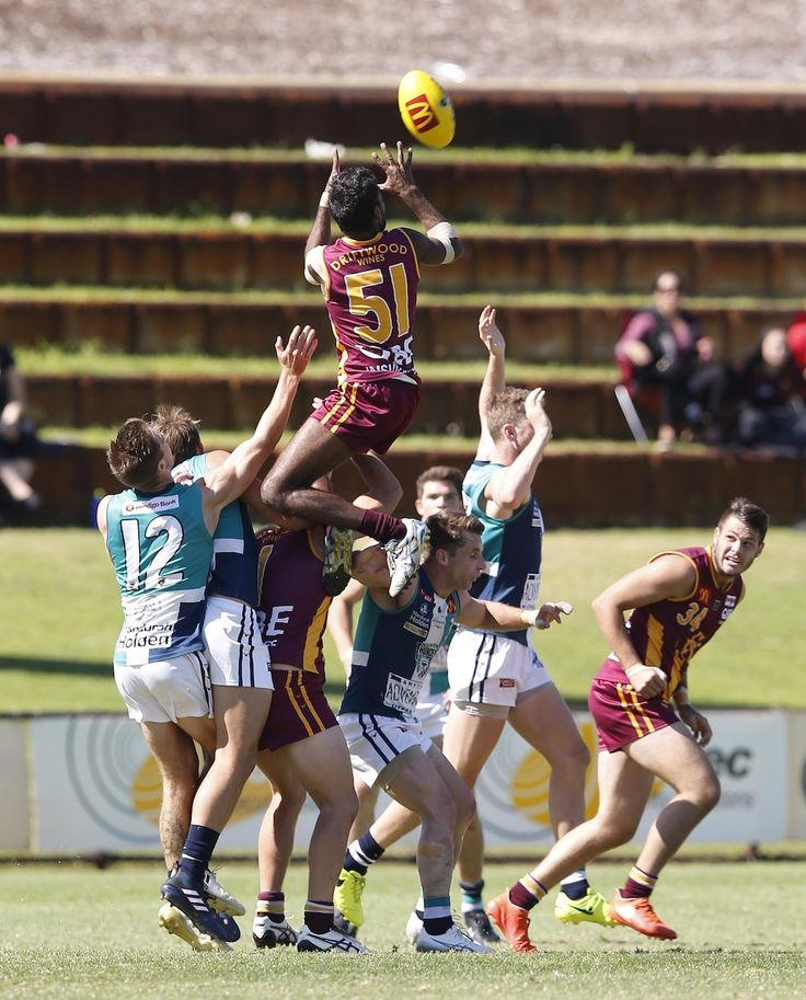Liam Ryan flies for a spectacular mark in the third quarter against Peel in the WAFL