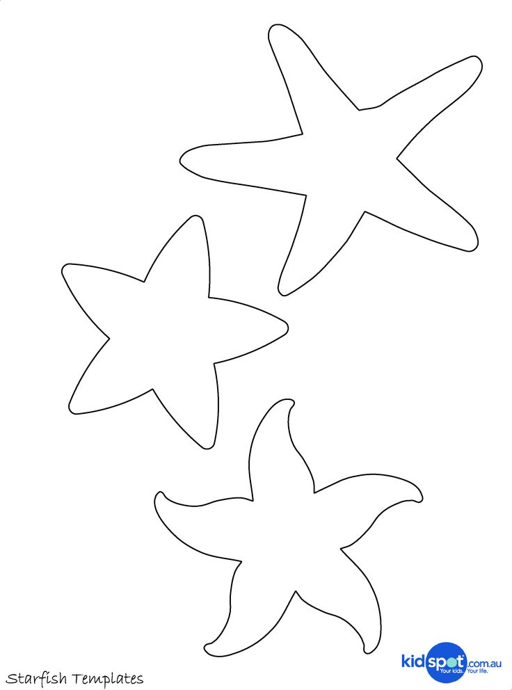 Sea+Star+Template | Beaded Starfish - Art And Craft - Ocean Craft - Ocean Theme