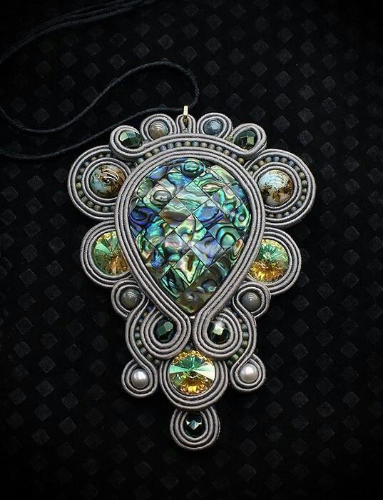 Beads & soutache. Beautiful.