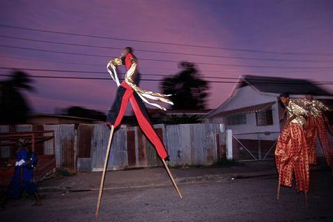Stilt Walking School in Trinidad - Oh man, creepiest pictures. Love them.