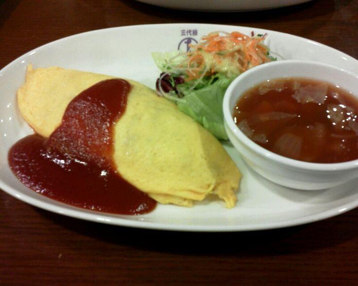 Omlet Lunch @ TAIMENKEN  洋食屋たいめんけんのオムライス