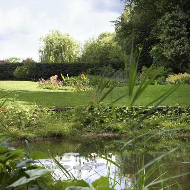 Grote groene tuin met prachtige vijver - Esselink Hoveniers