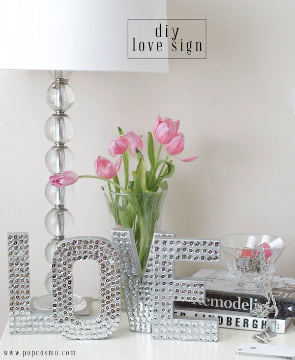 Sparkle it up with this easy DIY that'll make a sweet statement. Customize with her own choice of words, paint and sequins.
