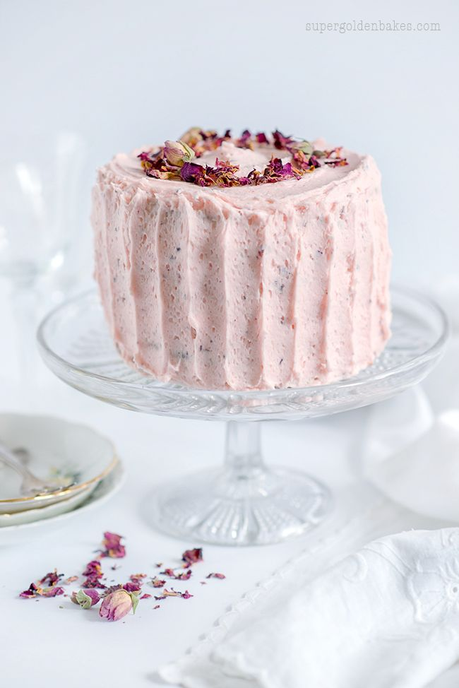 Perfectly Romantic Rose & Lemon Cake - a delicately rose scented cake with rose and lemon buttercream.