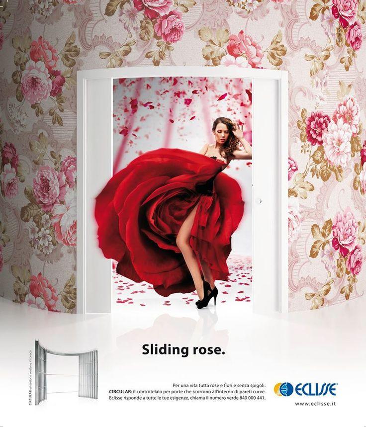 """Sliding rose - """"Pentru cea mai melodioasa simfonie a spatiului"""". Oferind libertate maxima in definirea perimetrelor curbe, sistemul Circular Estensione reprezinta cea mai sofisticata si eleganta solutie arhitectonica, prin care spatiul dobandeste valente superlative."""