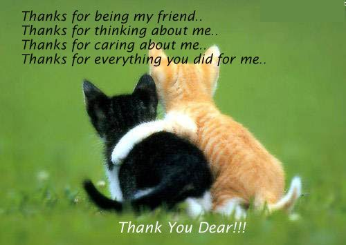 Image result for thank you for being my friend and thinking of me images